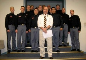 Tom Durwood with cadets