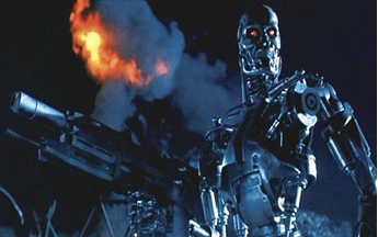 Still from The Terminator (1984) Our mixed feelings towards machines persists.