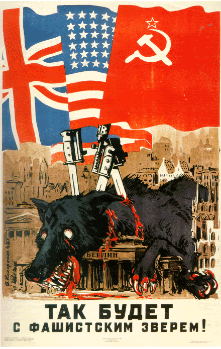 Russian Cold War poster. The Cold War impacted the ideology of gender