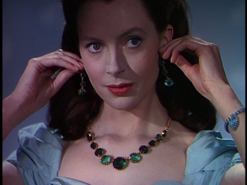 "Deborah Kerr wearing prizes of empire in the 1947 movie ""Black Narcissus"""
