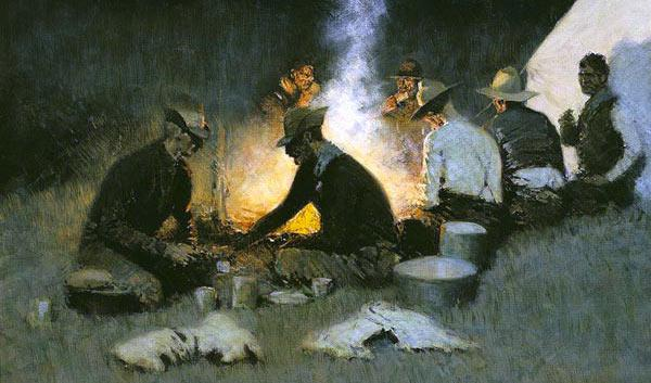 "Frederic Remingtons ""The Hunters Supper"" (1904)"